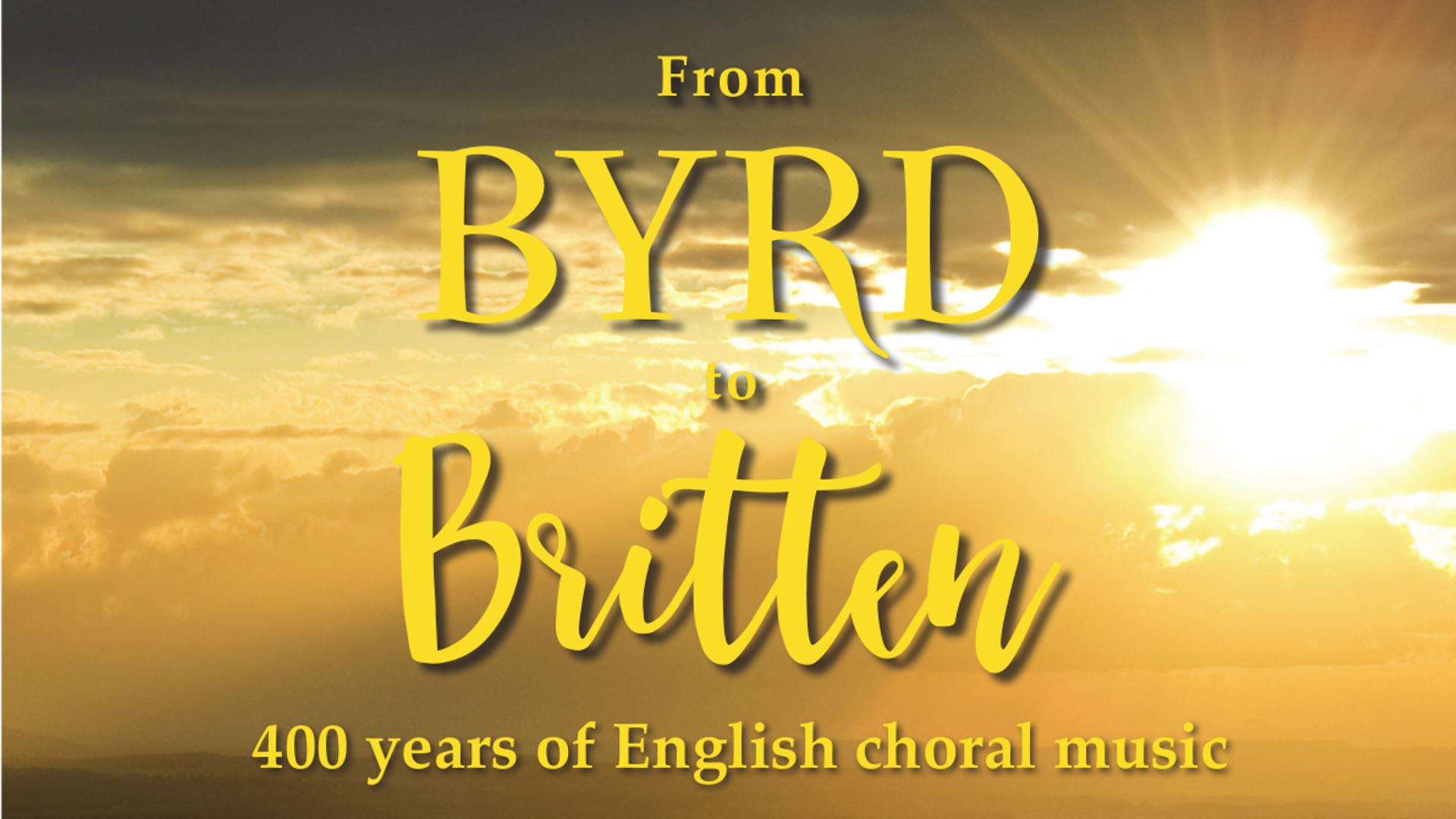 Byrd to Britten title