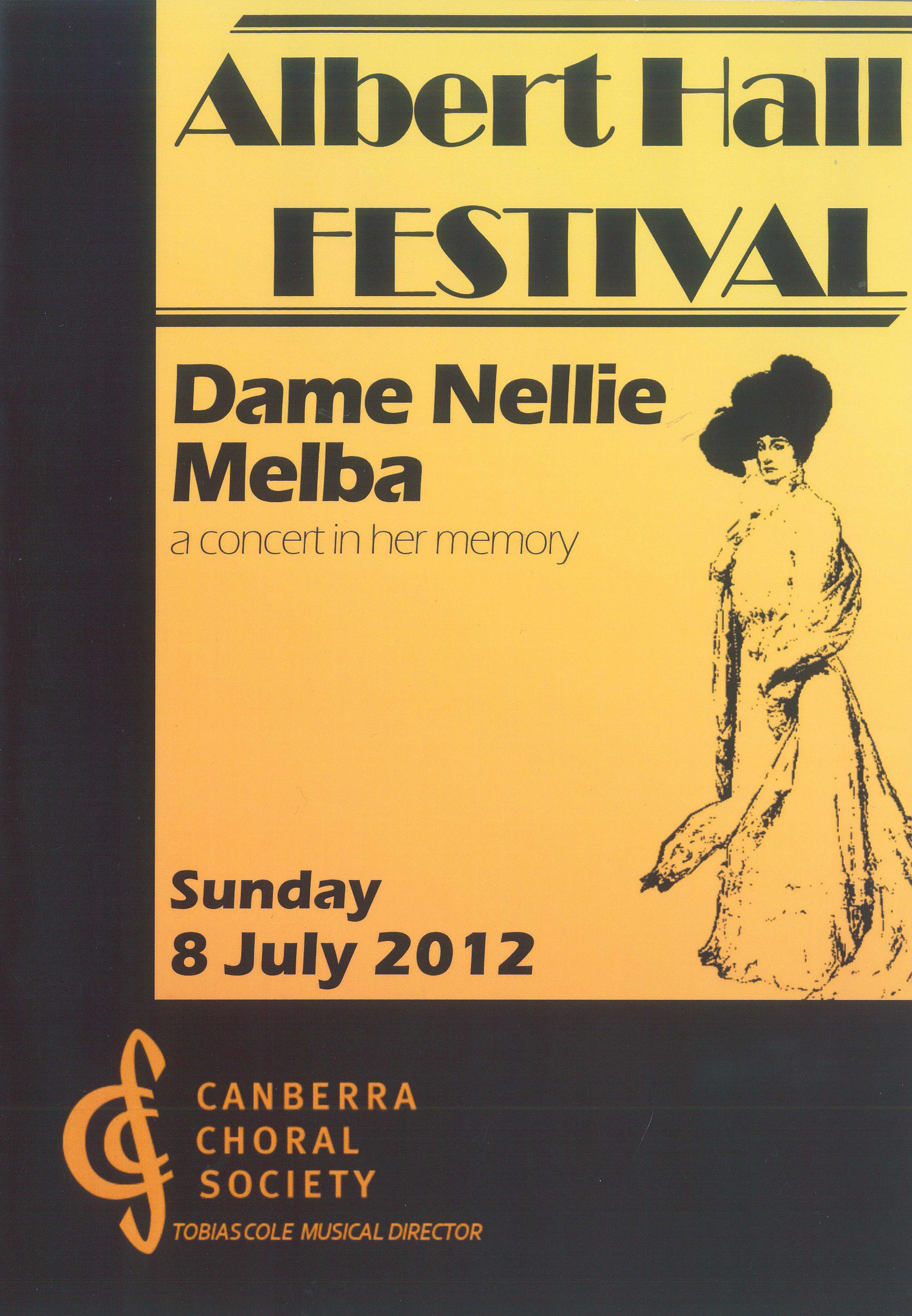 Albert Hall Festival 2012 poster