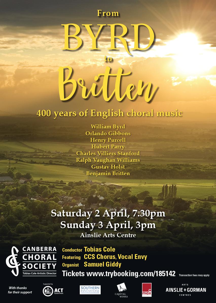 Byrd to Britten 2016 poster