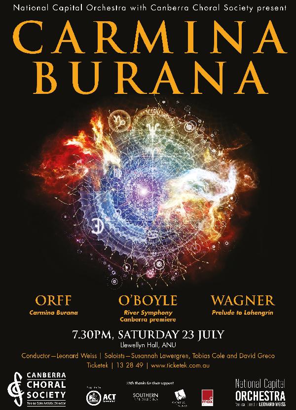 Carmina Burana 2016 poster