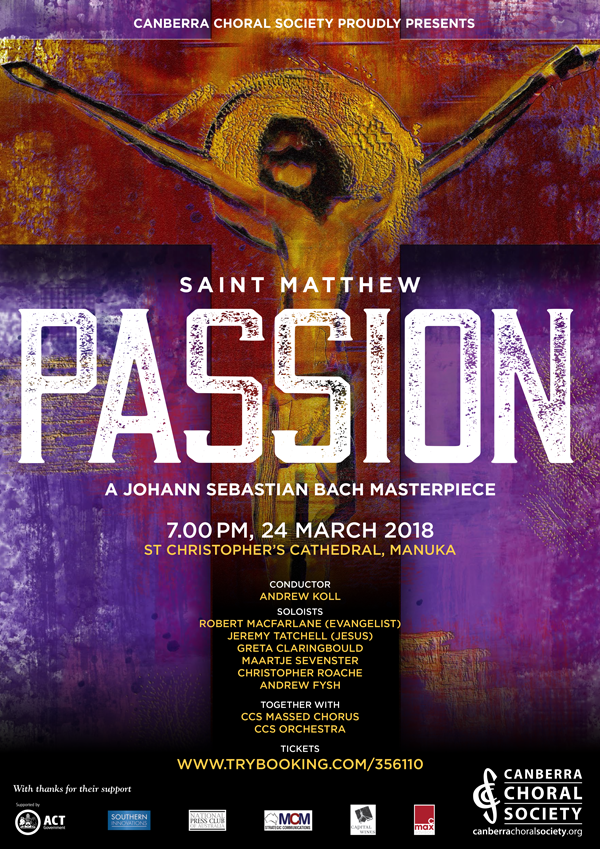 St Matthew Passion poster