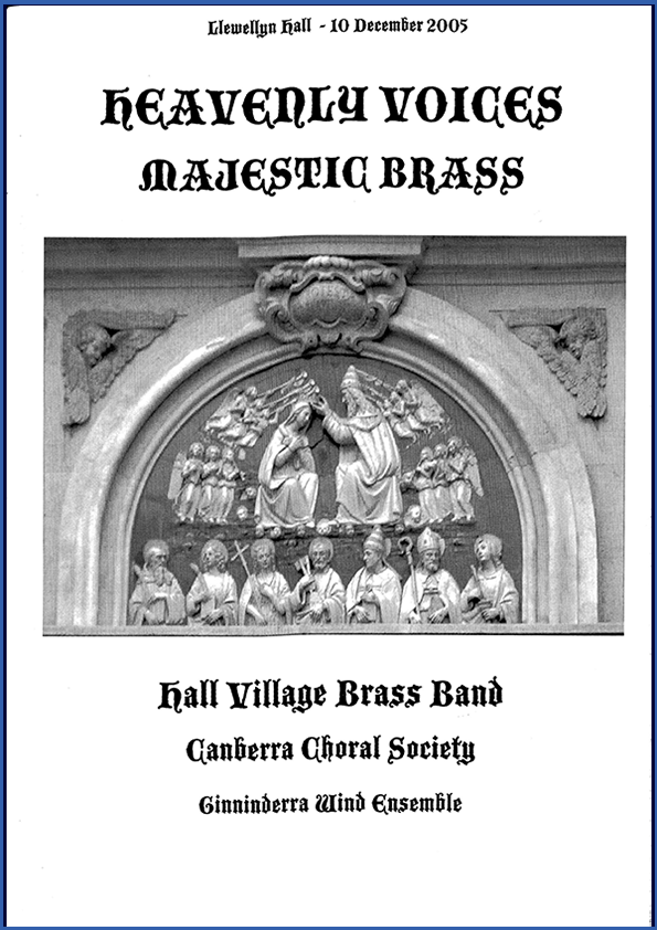 Heavenly Voices, Majestic Brass 2005 poster