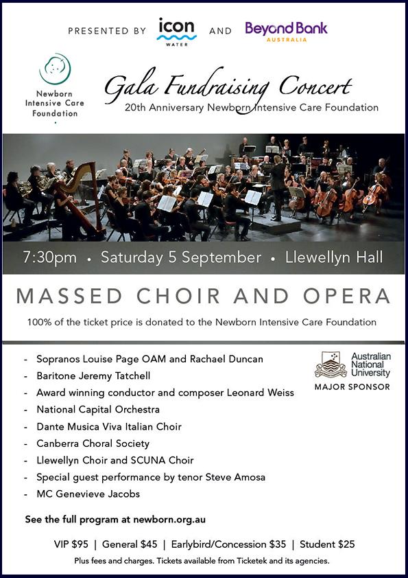 NICF Gala Fundraising Concert 2015 poster
