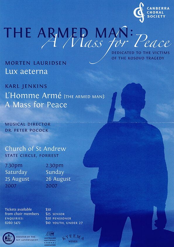 The Armed Man: A Mass for Peace 2007 poster