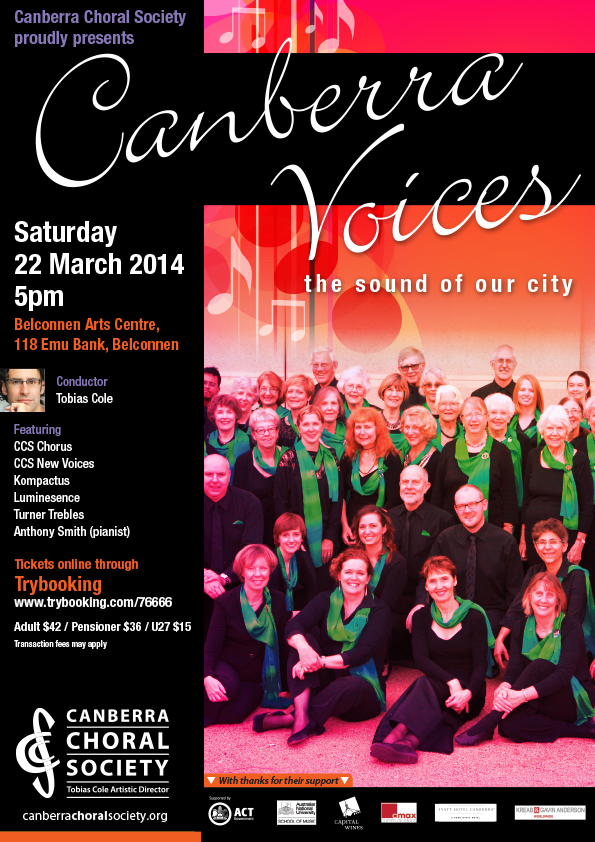Canberra Voices 2014 poster