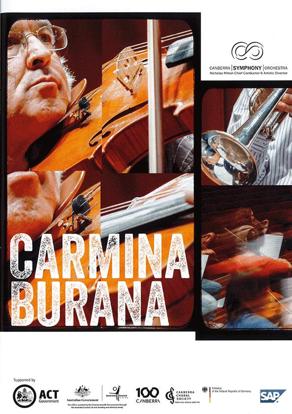 Carmina Burana 2013 poster