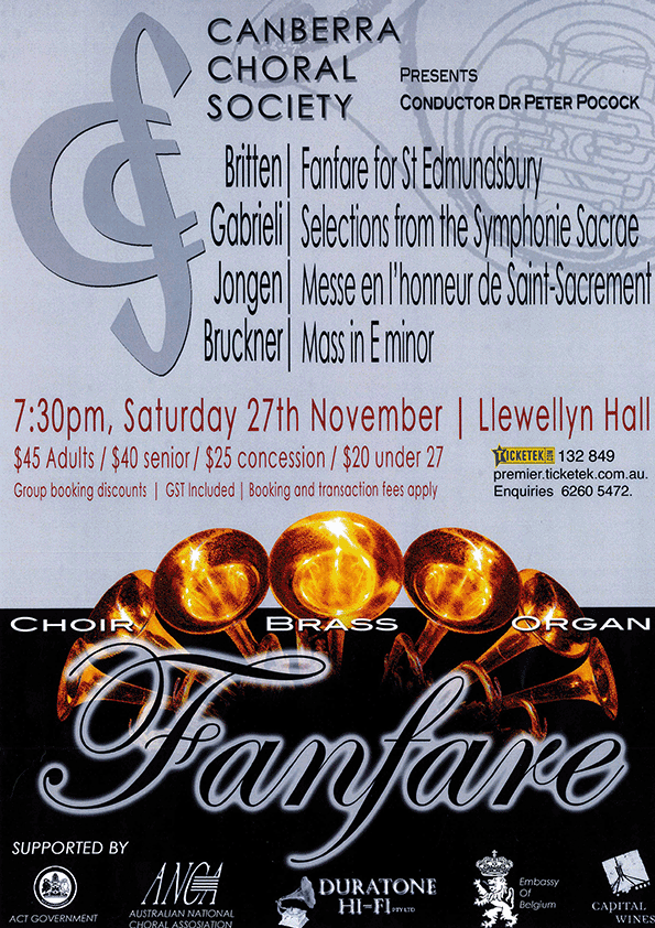 Fanfare 2010 poster