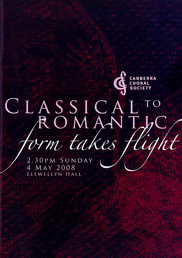 Classical to Romantic: Form takes Flight 2008 poster
