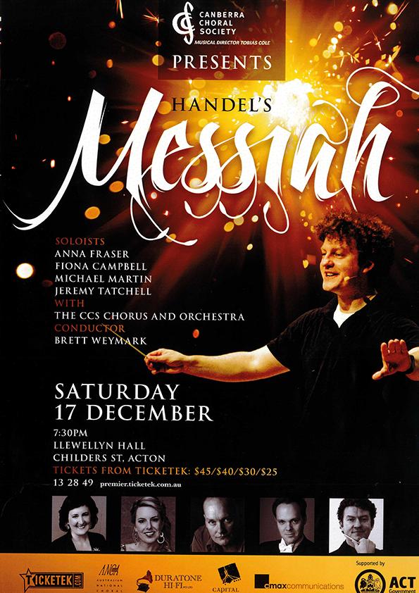 Handel's Messiah 2011 poster