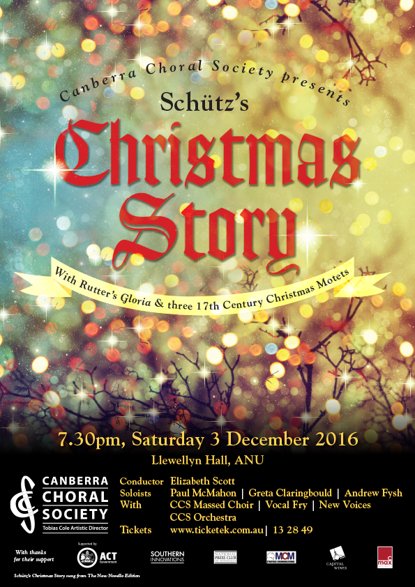 Schütz's Christmas Story 2016 poster