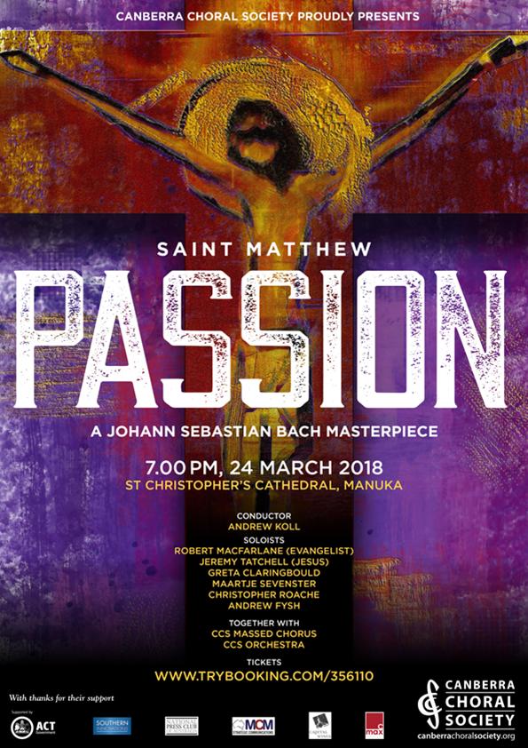 St Matthew Passion poster